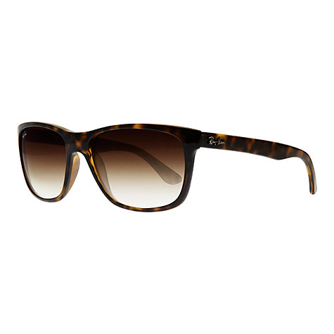 Buy Ray-Ban RB4181 Highstreet Square Sunglasses, Light Havana Online at johnlewis.com