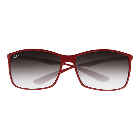 Buy Ray-Ban RB4179 Tech Square Sunglasses, Red Online at johnlewis.com