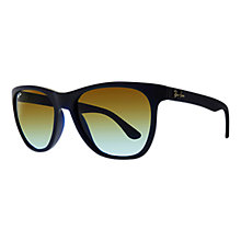 Buy Ray-Ban RB4184 High Street Square Sunglasses, Matte Blue Online at johnlewis.com