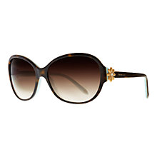 Buy Tiffany & Co TF4068B Single Daisy Sunglasses, Havana / Blue Online at johnlewis.com