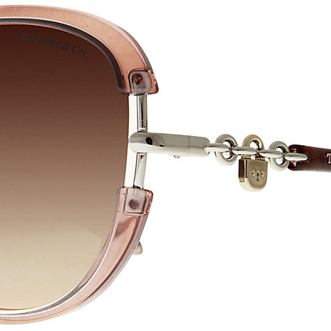 Buy Tiffany & Co TF4067 Lock Chain Sunglasses, Old Pink Online at johnlewis.com