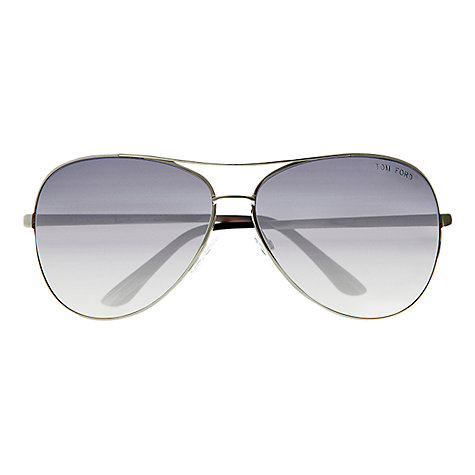 Buy Tom Ford FT035 Charles Metal Aviator Sunglasses, Gunmetal Online at johnlewis.com
