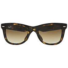 Buy Ray-Ban RB4105 Folding Wayfarer Sunglases, Light Havana Online at johnlewis.com