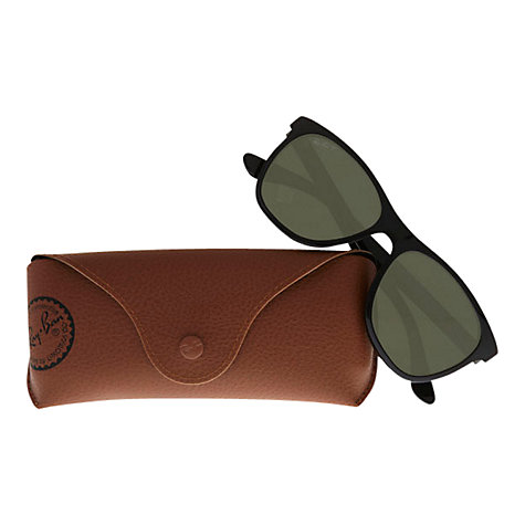 Buy Ray-Ban RB4184 High Street Square Polarised Sunglasses, Black Online at johnlewis.com