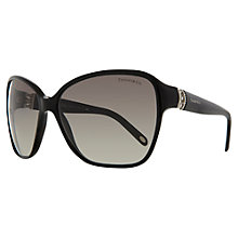 Buy Tiffany & Co Oversized Diamanté Hinge Sunglasses, Black Online at johnlewis.com