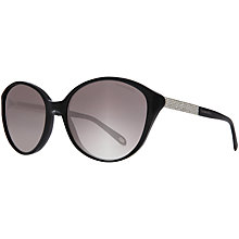 Buy Tiffany & Co TF4073B Oversized Round Cats Eye Sunglasses, Black Online at johnlewis.com