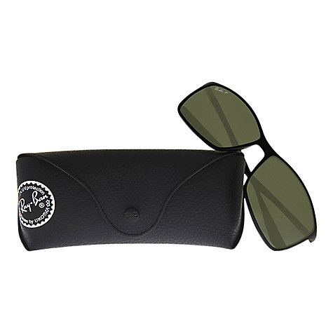 Buy Ray-Ban RB4179 Tech Rectangular Polarised Sunglasses, Black Online at johnlewis.com