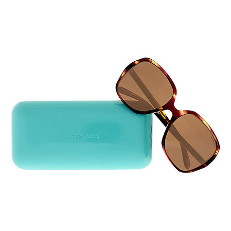 Buy Tiffany & Co TF4072B Metro Pave Detail Sunglasses, Spotted Violet Online at johnlewis.com