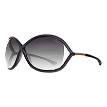Buy TOM FORD FT0009 Whitney Butterfly Sunglasses, Blue / Grey Online at johnlewis.com