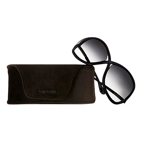 Buy TOM FORD FT009 Whitney Butterfly Sunglasses, Blue / Grey Online at johnlewis.com