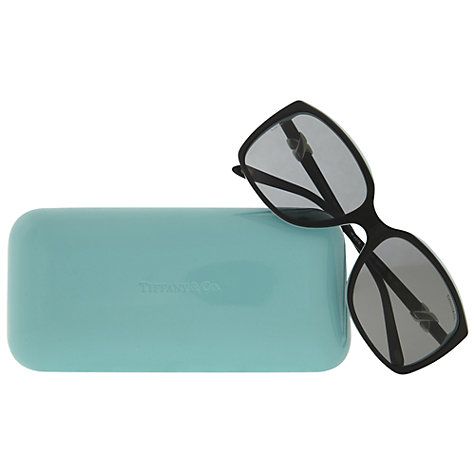 Buy Tiffany & Co TF4076 Square Sunglasses, Black/Blue Online at johnlewis.com