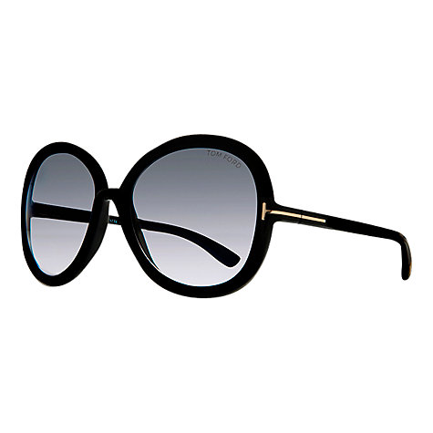 Buy Tom Ford FT0276 Candice Oval Sunglasses, Black Online at johnlewis.com