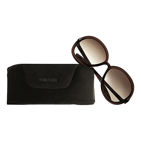 Buy Tom Ford FT0276 Candice Round Sunglasses, Dark Brown Online at johnlewis.com