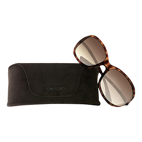 Buy TOM FORD FT0008 Jennifer Square Sunglasses, Tortoiseshell Online at johnlewis.com