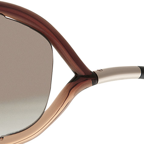 Buy TOM FORD FT0008 Jennifer Square Sunglasses, Tortoise Online at johnlewis.com
