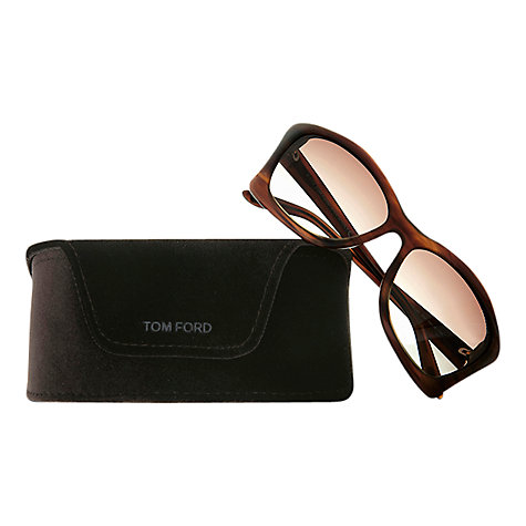 Buy Tom Ford FT0280 Lana Cats-Eye Sunglasses, Brown Online at johnlewis.com