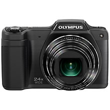"Buy Olympus SZ-15 Digital Camera, HD 720p, 16MP, 24x Optical Zoom, 3"" LCD Screen with Case and Spare Battery with 16GB + 8GB Memory Card Online at johnlewis.com"