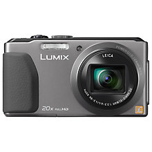 "Buy Panasonic Lumix DMC-TZ40 Digital Camera, HD 1080p, 18.1MP, 20x Optical Zoom, Wi-Fi, NFC, GPS & GLONASS, 3"" Touch Screen with 16GB + 8GB Memory Card Online at johnlewis.com"
