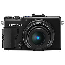 "Buy Olympus XZ-2 Digital Camera, HD 1080p, 12MP, 4x Optical Zoom with 3"" LCD Touch Screen with 16GB + 8GB Memory Card Online at johnlewis.com"
