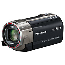 "Buy Panasonic HC-V720 HD 1080p Camcorder, 20.4MP, 21x Optical Zoom, Wi-Fi, NFC, 3"" LCD Screen, Black with FREE Battery Online at johnlewis.com"