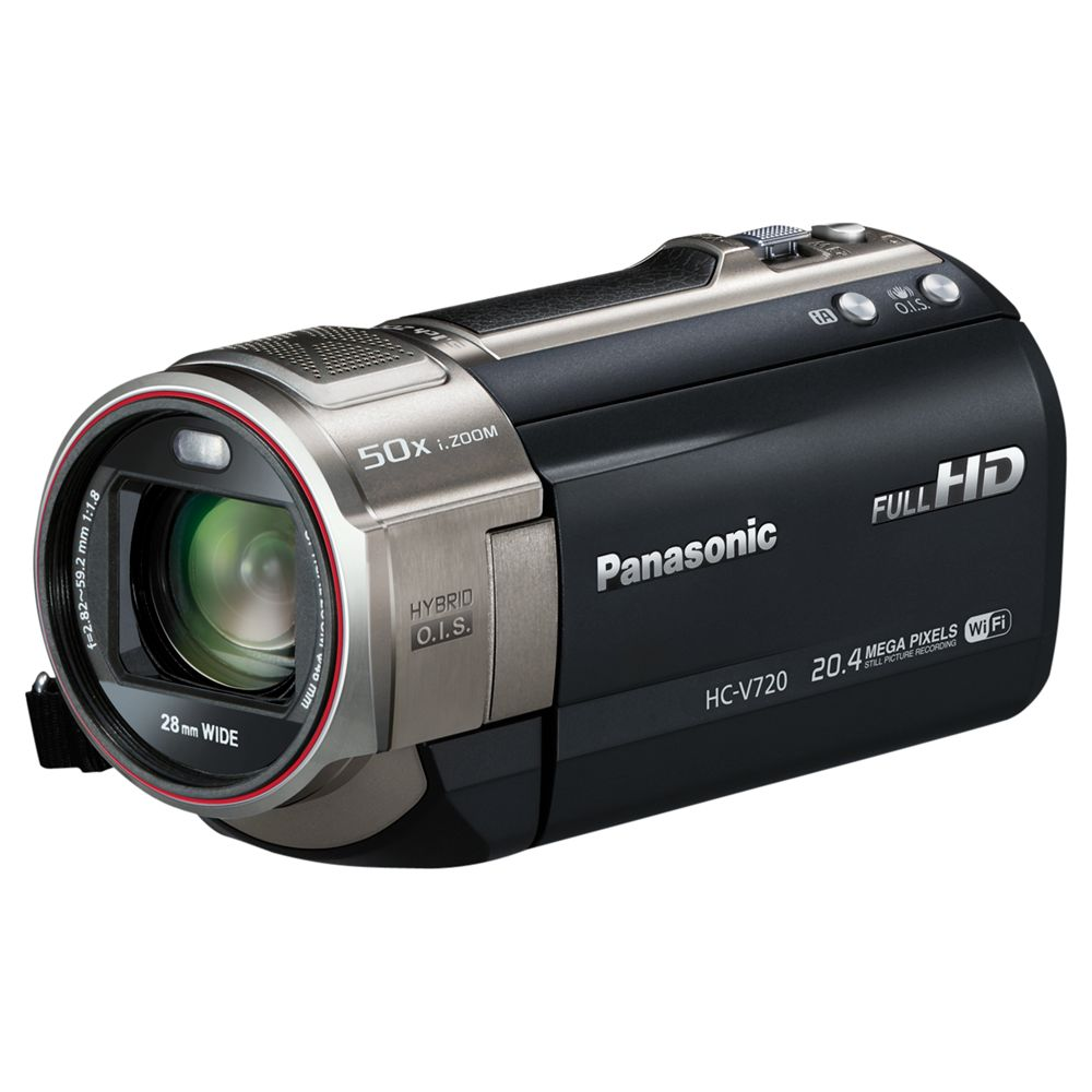 "Panasonic Hc-v720 Hd 1080p Camcorder, 20.4mp, 21x Optical Zoom, Wi-fi, Nfc, 3"" Lcd Screen, Black"