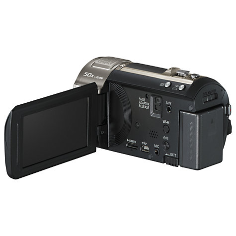 Buy Panasonic HC-V720 HD 1080p Camcorder, 20.4MP, 21x Optical Zoom, Wi-Fi, NFC, 3 LCD Screen, Black Online at johnlewis.com