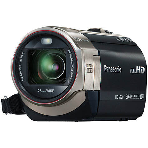 "Buy Panasonic HC-V720 HD 1080p Camcorder, 20.4MP, 21x Optical Zoom, Wi-Fi, NFC, 3"" LCD Screen, Black Online at johnlewis.com"