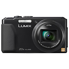 "Buy Panasonic DMC-TZ40 Digital Camera, HD 1080p, 18.1MP, 20x Optical Zoom, Wi-Fi, NFC, GPS & GLONASS, 3"" Touch Screen Online at johnlewis.com"