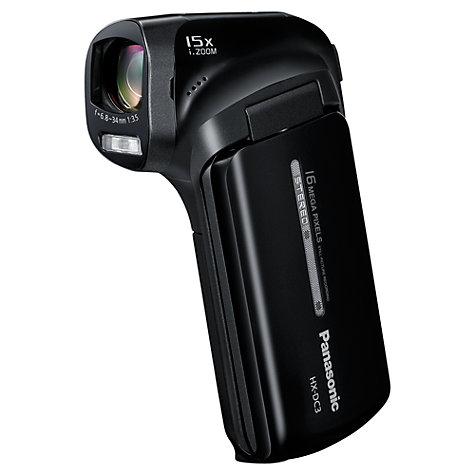 "Buy Panasonic HX-DC3 Camcorder, HD 1080p, 16MP, 5x Optical Zoom, 3"" LCD Screen Online at johnlewis.com"