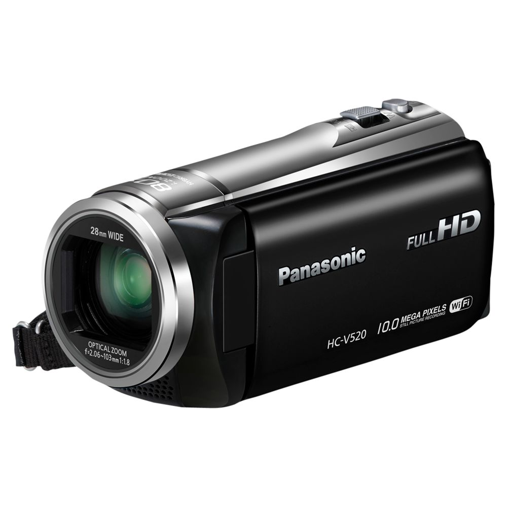 "Panasonic Hc-v520 Hd 1080p Camcorder, 10mp, 50x Optical Zoom, Wi-fi, Nfc, 3"" Lcd Screen"