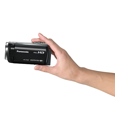"Buy Panasonic HC-V520 HD 1080p Camcorder, 10MP, 50x Optical Zoom, Wi-Fi, NFC, 3"" LCD Screen Online at johnlewis.com"