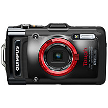 "Buy Olympus TG-2 Digital Camera, HD 1080p, 12MP, 4x Optical Zoom, GPS, 3.2"" OLED Screen, Black Online at johnlewis.com"