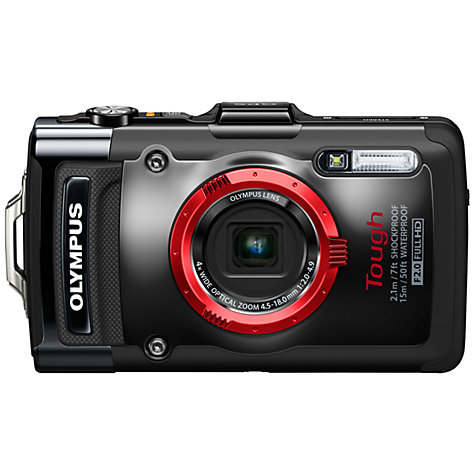 "Buy Olympus TG-2 Waterproof Camera, HD 1080p, 12MP, 4x Optical Zoom, GPS, 3.2"" OLED Online at johnlewis.com"