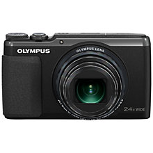 "Buy Olympus Stylus SH-50 Digital Camera, HD 1080p, 16MP, 24x Optical Zoom, 3"" Touch Screen with 16GB + 8GB Memory Card Online at johnlewis.com"