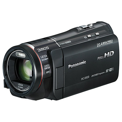"Buy Panasonic HC-X920 3D HD 1080p Camcorder, 20.4MP, 12x Optical Zoom, Wi-Fi, 3.5"" LCD Screen, Black Online at johnlewis.com"
