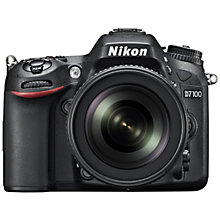 "Buy Nikon D7100 Digital SLR Camera with 18-105mm VR Lens, HD 1080p, 24.1MP, 3.2"" LCD Screen, Black with 16GB + 8GB Memory Card Online at johnlewis.com"