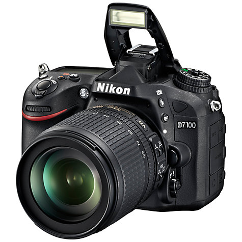 "Buy Nikon D7100 Digital SLR Camera with 18-105mm VR Lens, HD 1080p, 24.1MP, 3.2"" LCD Screen, Black Online at johnlewis.com"