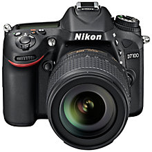 "Buy Nikon D7100 Digital SLR Camera Body Only with 70-300mm Lens, HD 1080p, 24.1MP, 3.2"" LCD Screen, Black Online at johnlewis.com"