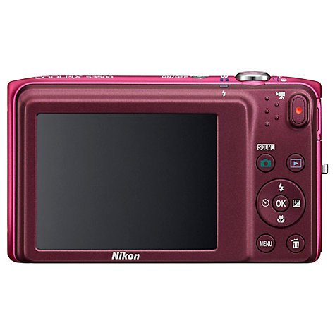 "Buy Nikon Coolpix S3500 Digital Camera, HD 720p, 20.1MP, 7x Optical Zoom, 2.7"" LCD Screen Online at johnlewis.com"