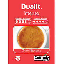 Buy Dualit 15400 Caffitaly Intenso Grand Espresso Capsules, Pack of 20 Online at johnlewis.com