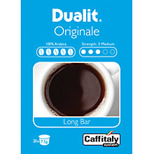 Buy Dualit 15402 Caffitaly Originale Long Bar Capsules, Pack of 20 Online at johnlewis.com