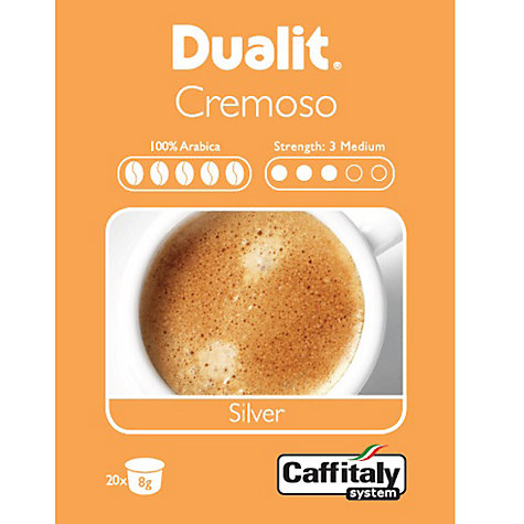 Buy Dualit 15401 Caffitaly Cremoso Silver Capsules, Pack of 20 Online at johnlewis.com