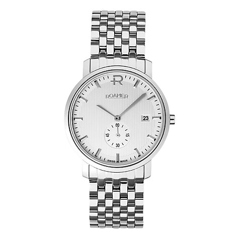 Buy Roamer Odeon Men's Stainless Steel Bracelet Watch Online at johnlewis.com
