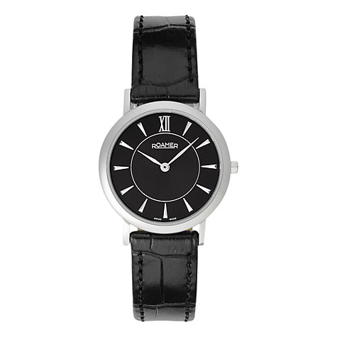 Buy Roamer Limelight 934857 41 55 09 Men's Leather Strap Watch, Black Online at johnlewis.com