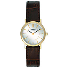 Buy Roamer Limelight 934857 48 15 09 Women's Leather Strap Watch, Gold / Brown Online at johnlewis.com