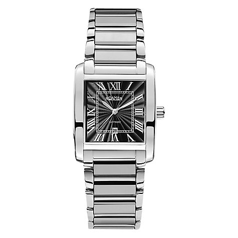 Buy Roamer Swiss Elegance Men's Stainless Steel Rectangular Watch Online at johnlewis.com