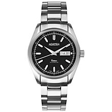 Buy Roamer Venus 932637 41 55 90 Men's Automatic Stainless Steel Watch, Silver / Black Online at johnlewis.com
