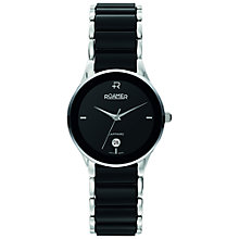 Buy Roamer Ceraline Saphira 677981 41 55 60 Women's Stainless Steel and Ceramic Watch, Black Online at johnlewis.com