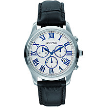 Buy Roamer Osiris Chrono 530837 41 12 05 Men's Leather Strap Watch, Black Online at johnlewis.com