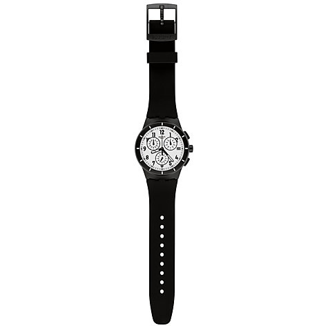 Buy Swatch SUSB401 Men's Twice Again Chronograph Watch, Black Online at johnlewis.com